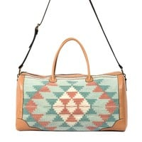 MZ Daydream Fair Trade Leather + Wool Duffel Bag