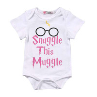 One- Piece New Summer Rompers Kids Baby Girls Boys Harry Potter Clothes Romper Top Jumpsuit Outfits
