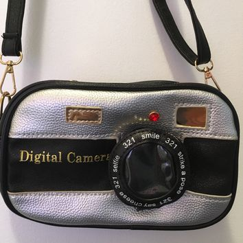 Digital Camera Crossbody Purse