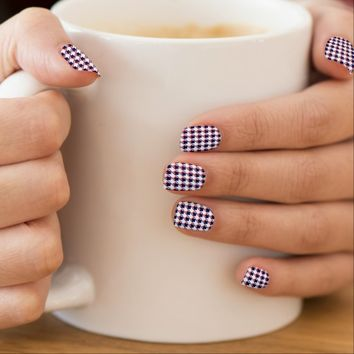 Red White Blue Houndstooth Minx® Nail Wraps
