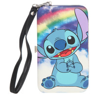 Disney Lilo Stitch Rainbow iPhone 4/4S/5/5S/5C Hinge Wallet