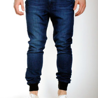 Dark Knit Denim | Sunset Jogger
