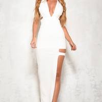 Don't Go Maxi Dress White