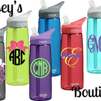 Personalized Monogram or Name Camelbak Eddy Water Bottle .75L