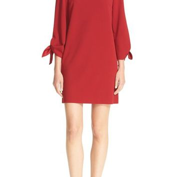 Tibi Off the Shoulder Tie Sleeve Shift Dress | Nordstrom