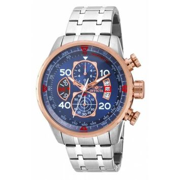 Invicta Men's 17203 Aviator Quartz Chronograph Blue Dial Watch
