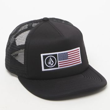 Volcom Stone Flag Trucker Hat - Mens Backpack - Black - One