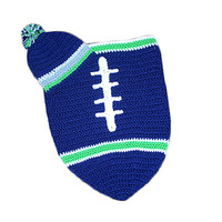 Seattle Seahawks Baby Football Cocoon & Hat (Newborn to 3 months)