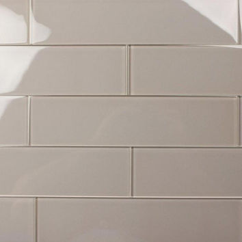 Putty 3X12 Subway Glass Tile