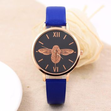 Women Watches Quartz Bracelet Ladies Watch Elegant Round Dial Faux Strap Relogio Feminino Women's Clock Female reloj mujer #824