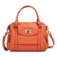 Women's Satchel Handbag - Orange
