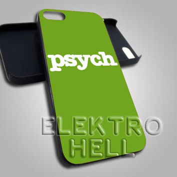PSYCH Green Logo - iPhone 4/4s/5 Case - Samsung Galaxy S3/S4 Case - Black or White