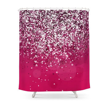Society6 Silver IV Shower Curtain
