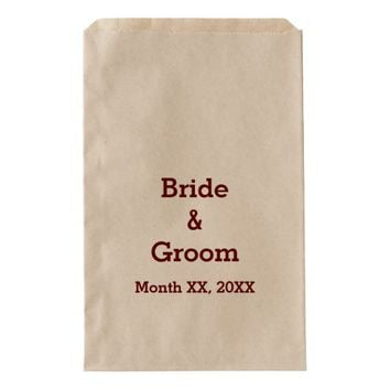 Personalized Bride & Groom Wedding Party Favor Bag