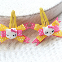 Baby / Toddler / Girl Hair Clips, Hello Kitty Snap Clips