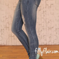 Perfect Isn't Easy Light Distressed Jeans