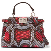 Fendi - Peekaboo micro python shoulder bag
