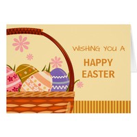 Easter Eggs Basket Greeting Card