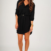 Burning Desire Tunic: Black