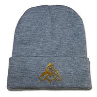 BARONL League of Legends 2015 World Championship Logo Beanie Fashion Unisex Embroidery Beanies Skullies Knitted Hats Skull Caps - Grey