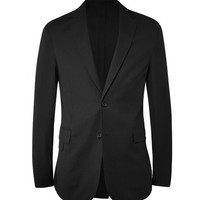 Balenciaga - Black Textured Wool and Cotton-Blend Blazer | MR PORTER