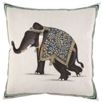 Indian Elephant Decorative Pillow