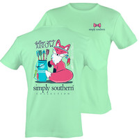 Simply Southern Follow Your Arrow Fox Tee - Green