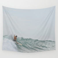 morning surf Wall Tapestry by RichCaspian