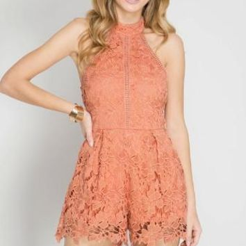 All My Love Romper - Coral