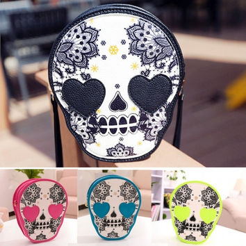 New Women's Fashion Bag Vintage Skull Bag Coin Purse Handbag Messenger Bags Shoulder Bags