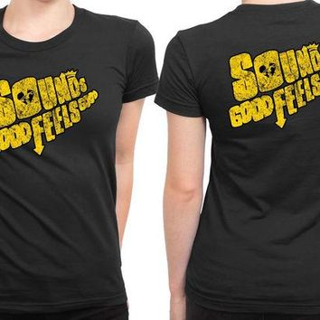 DCCK7H3 5Sos Sounds Good Feel Good 2 Sided Womens T Shirt