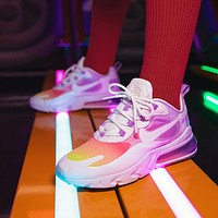 Max 270 React new women's stitching color half palm air cushion running shoes
