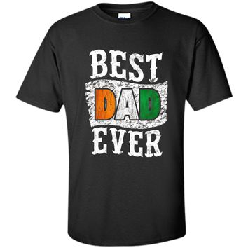 Men's Best Dad Ever Father's Day T-Shirt Ivory Coast  Flag