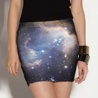 Digital Printing Starry Sky Skirt | Choies