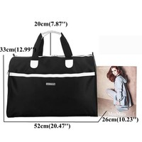Waterproof Nylon Travel Large Capacity Handbag 2 Different Size Luggage Shoulder Bags Crossbody Bags