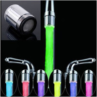 Novelty Design 7 Color RGB Colorful LED Light Water Glow Faucet Tap Head Home Bathroom Decoration Stainless Steel Water Tap
