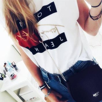 ESBONMI Tommy Hilfiger Jeans Cropped Top Tee