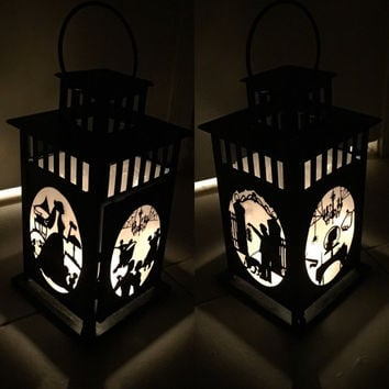 Haunted Mansion Inspired Metal Lantern