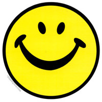 Happy Face Bumper Sticker on Sale for $2.99 at The Hippie Shop