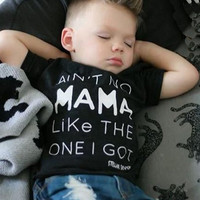 Toddler Ain't No Momma T-Shirt Jeans Outfit