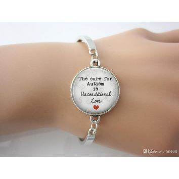 The Cure for Autism is Unconditional Love Pendant bangle