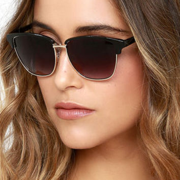 Accent Mark Black Sunglasses