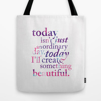 Today - Multicolor Tote Bag by Mockingbird Avenue