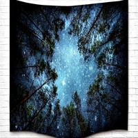 Beneath The Stars Fabric Wall Tapestry