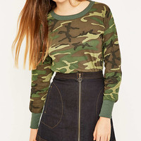 Urban Renewal Vintage Surplus Woodland Camo Long-Sleeve T-shirt - Urban Outfitters