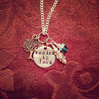 Custom Rooted In Love Necklace by TheEsperanzaShoppe on Etsy