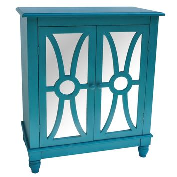 Turquoise 2 Door Cabinet By Crestview Collection
