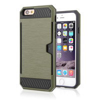 DEFENDER CARD HOLDER IPHONE CASE ARMY GREEN