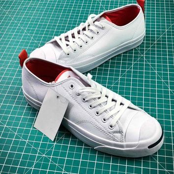 PEAP2Q Converse Jack Purcell Signature White Red Shoes