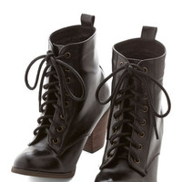 Chelsea Crew Menswear Inspired Step it Upright Bootie in Licorice